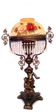 VICTORIAN STYLE CHERUB TABLE LAMP
