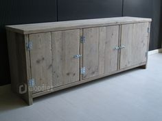 WOODIEZ | Mooie steigerhouten dressoir of kast. #steigerhout #ideeën