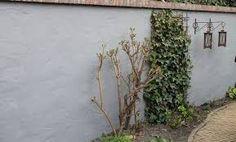 Afbeeldingsresultaat voor wit gestucte tuinmuur