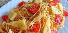 Σκορδομακαρονάδα με ντοματίνια που θα σας κάνει να γλείφετε τα δάχτυλα σας Spaghetti, Ethnic Recipes, Food, Eten, Meals, Noodle, Diet
