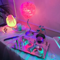 aesthetic, grunge, neon lights, pale, pastel, pink, tumblr