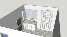 Large preview of 3D Model of Brenda Warren Headlam Bathroom