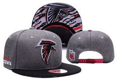 NFL Atlanta Falcons Embroidery Heather Gray Snapback Hats Brim Lava Logo|only US$8.90 - follow me to pick up couopons.