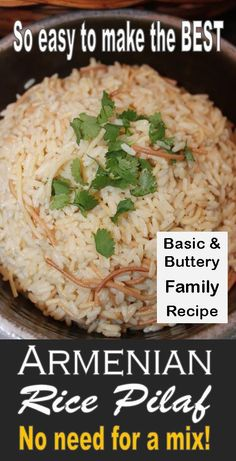 Potato Dishes, Rice Dishes, Pasta Dishes, Easy Rice Pilaf, Rice Pilaf Recipe, Buttery Rice, Egyptian Food, Mediterranean Dishes, Side Recipes