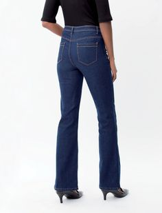 The Bootleg Jeans:- fitted on the hips with a flare from the knee. The name bootleg implies there's space for an ankle boot or calf length boot. Bootleg Jeans, Jeans Fit, Calves, Flare, Ankle, Denim, Boots, Fitness, Fashion