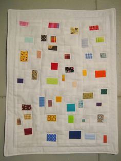 I love the just random bits of fabric on this quilt.  Finished Miniature Quilt for Whiplash by Lady Harvatine, via Flickr
