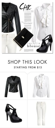 """""""Fall Trend: Necktie Blouse"""" by jecakns ❤ liked on Polyvore featuring Acne Studios, Haze, Bulgari and falltrend"""