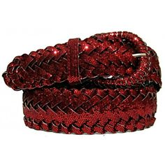 Ladies Glitter Braided Belt $9.99
