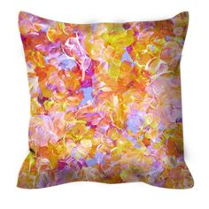 BLOOM ON YELLOW Floral Pattern Art Suede Throw Pillow Cover Decorative Cushion by EbiEmporium, #colorful #yellow #pastel #pink #summerdecor #summertime #summer #bedroom #bedding #homedecor #throwpillow #girly #floralpillow #floraldecor #floralpattern #ebiemporium #suede #suedepillow #designer #colorful
