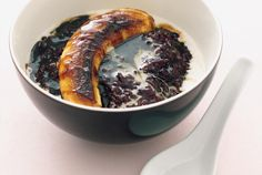 Black sticky rice is a naturally sweet, dark rice, and you'll be amazed at the unique taste of the rice in combination with the coconut milk.