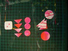 work for a custom order... Paper Street Dolls paper garlands for Dice Roll Cafe