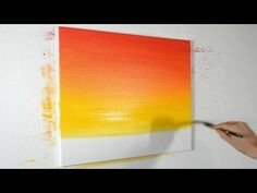 Acrylic Painting : A Sunset in Acrylic Color | Episode-2 - YouTube