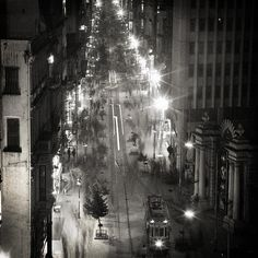 taksim, istiklal, beyoglu, istanbul, turkey, galatasaray, black and white, square, analog, slow shutter speed, film, ilford, city lights, tram, tramway, people, night, old, vintage, retro, poetic, poetry, street, urban, literature, beautiful, monochrome, photo art, holga, lomo, bosphorus, night life, scenery, love, speed, light, time, memory, melancholy, decorative, fine art america, taylan soyturk, canvas, poster, print