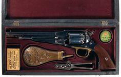 beautiful cased Remington Revolver, again, the bar to hold to