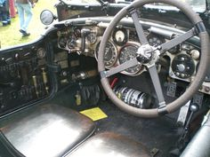 1934 Bentley Blower.  The Best dashboard in the automobile universe.