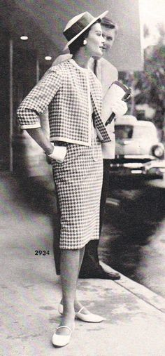 50's classic houndstooth suit