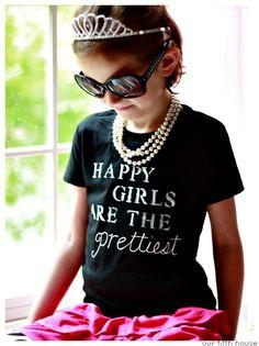 Audrey Hepburn Inspired DIY T-shirt - Happy Girls are the Prettiest