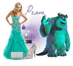 """Prom Disney Edition: Sully"" by tornadoegi ❤ liked on Polyvore featuring Calvin Klein, Dinny Hall, Dorothy Perkins, Yves Saint Laurent, Topshop and Essie"