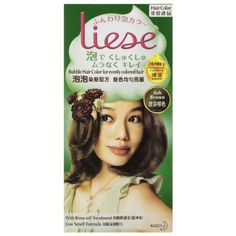 KAO Liese Bubble Hair Color Dye Easy Use and More Evenly Colored New Formula !! (Ash Brown) ** Continue to the product at the image link.