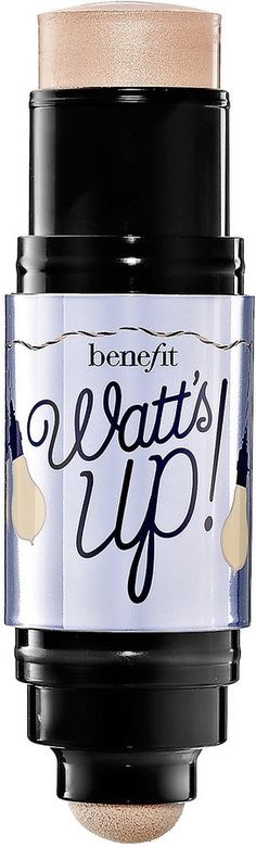 Benefit Cosmetics Watts Up! Cream-to-Powder Highlighter Benefit Cosmetics Watt's Up! Cream-to-Powder Highlighter Cream Highlighter, Liquid Highlighter, Best Face Products, Wow Products, Beauty Products, Skin Products, Makeup Products, Illuminator Makeup, Aloe Vera Care