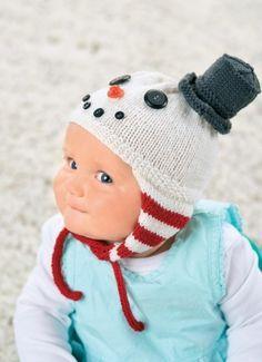 Snowman baby hat (free pattern)