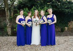Blue Bridesmaids dresses. Maggie Bride Angela wore Gemma by Maggie Sottero at her navy blue garden wedding   Schryver Photography