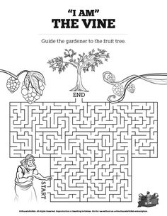 John 15 I Am The Vine Bible Word Search Puzzles: Do your
