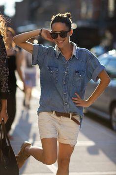 I also love denim shirts too much. #denim #clothes