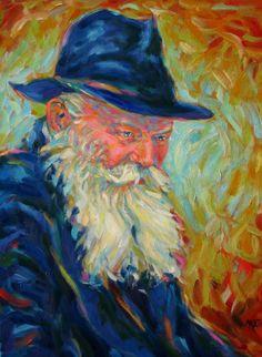 Martina Shapiro (Czech/Canadian)   Portrait of the Lubavitcher Rebbe - Menachem Mendel Schneerson