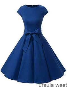 Shop a great selection of Dressystar Dressystar Women Vintage Retro Rockabilly Prom Dresses Cap-Sleeve. Find new offer and Similar products for Dressystar Dressystar Women Vintage Retro Rockabilly Prom Dresses Cap-Sleeve. Vintage 1950s Dresses, Retro Dress, 50s Vintage, Vintage Clothing, Audrey Hepburn Stil, Trendy Dresses, Short Dresses, Dresses Dresses, Fashion Dresses
