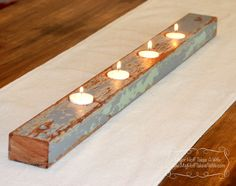 DIY Barn wood candle holder