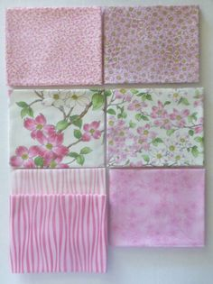 Dogwood Trail II by Moda Cotton Fabric, Quilt, Fat Quarter Bundle of 7~Grp #1~Pink~Fast Shipping FQ361
