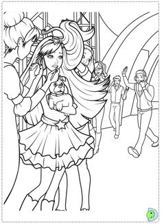 Tori Is Backstage Barbie Printable Find Your Favorite In THE PRINCESS POPSTAR Coloring Pages Section