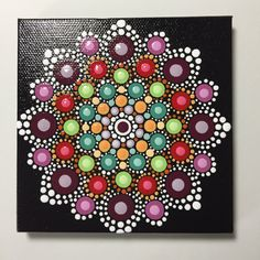 Hand Painted Mandala on Canvas, Meditation, Dot Art, Healing, Calming, #409 by MafaStones on Etsy