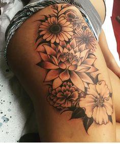 Birth Flower Tattoos - Best Flower Tattoos For Women: Cute Floral Tattoo Designs. - Birth Flower Tattoos – Best Flower Tattoos For Women: Cute Floral Tattoo Designs and Ideas For Gi - Hand Tattoos, Elbow Tattoos, Feather Tattoos, Body Art Tattoos, Girl Tattoos, Sleeve Tattoos, Worst Tattoos, Female Tattoo Sleeve, Spine Tattoos