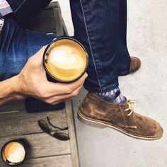 Proper Sunday Vibes Coffee ☕️x Vellies ✅ . Coffee shops give you a place to enjoy, meet friends and feel a part of the local community. Coffee shops are fast becoming to America what the English pub is to England & we couldn't feel more comfortable! Boat Shoes, Men's Shoes, Tough As Nails, Meet Friends, Clean Shoes, Mens Style Guide, Desert Boots, Style Guides, Autumn Fashion