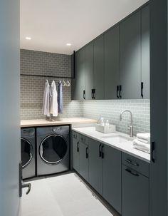 Pantry Laundry Room, Laundry Room Bathroom, Modern Laundry Rooms, Laundry Room Layouts, Laundry Room Cabinets, Laundry Room Organization, Basement Laundry, Diy Cabinets, Modern Room