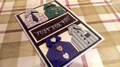 Handmade mens birthday card - featuring origami shirts