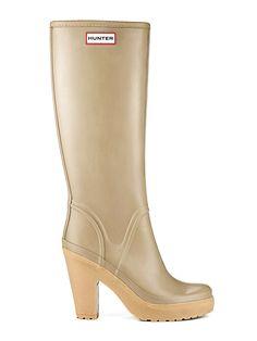 Womans High Heel Rain Boots | Rubber Boots | Hunter Boot Ltd