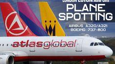 London Luton Airport Wizz Air *Hard Landing Monarch Airlines* Atlas Glob...