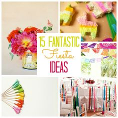 Prepared to party? Cinco de Mayo is just around the corner, and these fabulous ideas are sure to make your fiesta a success! Party Like Its 1999, Fiestas Party, Fiesta Decorations, Mexican Party, Baby Shower, Diy Party, Party Ideas, Holiday Parties, Have Time