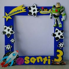 Toy Story Birthday, 3rd Birthday, Cumple Toy Story, Toy Story Buzz, Ideas Para Fiestas, Minnie Mouse Party, Toys For Boys, Woody, Frame