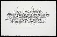 Calligraphy - Ewan Clayton Calligraphy Studio