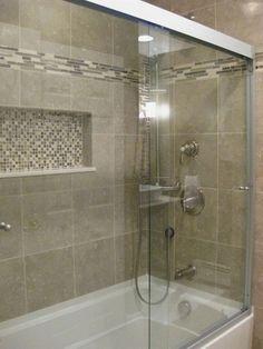 ideas bathroom shower tub tile bath remodel for 2019 Small Bathroom With Shower, Brown Bathroom, Shower Tub, Bathroom Ideas, Master Bathroom, Paint Bathroom, Tile Showers, Shower Doors, Budget Bathroom