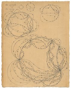"""Recursive Network 2011 Graphite and tea on paper 18 x 28 cm (7x11 inches) Currently traveling with the exhibit """"Emergence and Structure"""""""