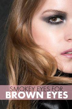 smokey eyes for brown eyes