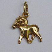 3D gouden bedel: sterrenbeeld 'Ram' € 62,-