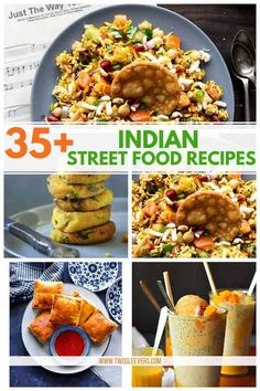 Enjoy some of your favorite Indian street foods in the comfort of your own home! With these 35+ Indian street food recipes you'll have a new delicious treat to try for weeks on end. Indian Street Food | Street Food | Indian Cuisine | TwoSleevers #IndianStreetFood #StreetFood #IndianCuisine #TwoSleevers #TrustUrvashi
