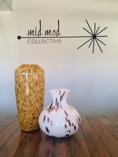 Vintage art glass. Available now at Mid Mod Collective. Email midmodcollective@gmail.com for more info.