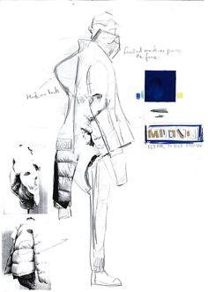 Fashion Drawing Johnson Deng: Final Collection - Sketchbook Work Part 1 Fashion Portfolio Layout, Fashion Design Sketchbook, Fashion Illustration Sketches, Illustration Mode, Fashion Design Drawings, Fashion Sketches, Medical Illustration, Art Portfolio, Sketchbook Layout